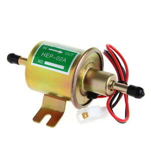 1X 12V Gas Diesel Inline Low Pressure Electric Fuel Pump HEP-02A