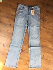 John BANER  Stretch Jeans 44  ✅ Straightcut Mit Stickerei NEU Lightblue Cowboy