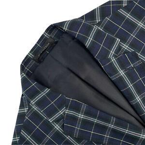 Hommes 48 L Ralph Lauren Montre Noir Écossais à Carreaux Slim Fit Coton Blazer
