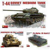 Mini Art 1:35 Tanks WW2 Model Kits German Jagdpanzer Soviet T44