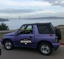 1988-1994 Geo Tracker Black Replacement Soft Top with Tinted Windows