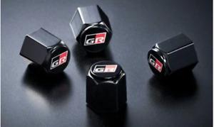 TOYOTA GR Tire Air Valve Cap 4pcs set GAZOO RACING Genuine Parts OEM From Japan