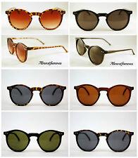 80s Retro fashion sunglasses tortoise vintage remade keyhole round,good quality