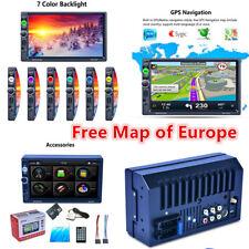 """2-Din 7"""" schermo TFT a più recenti sistemi stereo radio lettore MP5 con libero Mappa dell'Europa AUX/USB"""