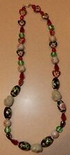 Cloisonne Beads & Happy Buddha Face Necklace