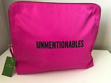 Kate Spade Bon Voyage Snap Dragon Pink Unmentionables Lingerie Bag Pouch - NWT