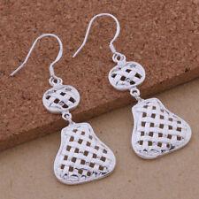 Silver Plated Multi Drop Dangle Earrings New Women Fashion Jewelry 925 Sterling