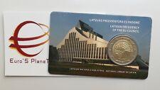 coin card 2 euro 2015 LETTONIA Presidenz Europa Lettonie Lettland Latvia Latvija