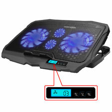 Portable Laptop Cooling Pad LED Dual USB 4 Fans Cooler Adjustable Stand Coolpad