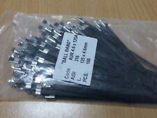 Fascette  in acciaio inox  Metallo Banda  Legante 4,6x 125 .pcs 100