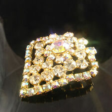 Brooch/Pin Rhinestone Gold Plated Vintage & Antique Jewellery