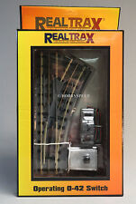 MTH REALTRAX OPERATING 042 RIGHT HAND SWITCH O GAUGE train accessory 40-1043 NEW