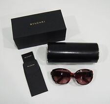 $790 Bvlgari 8037-B 5034/3L Limited Edition Burgundy Tortoise Sunglasses