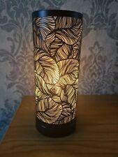 Electric Aroma Lamp Wax Melt Burner Matte Black Leaf Design Touch Sensitive