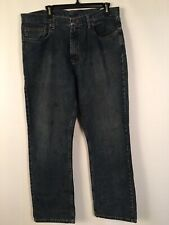 Wrangler Blue Jeans 36 X 32 Relax Straight Stained