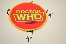 DR. DOCTOR WHO  VINTAGE CLOTH PATCH UNUSED vINTAGE