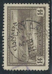 Canada #270(11) 1946 14 cent HYDROELECTRIC STATION LUCKY LAKE SASKATCHEWAN SOTN