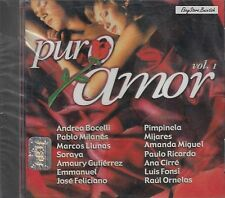 ANDREA BOCELLI PABLO MILANES SORAYA MIJARES EMMANUEL PURO AMOR VOL 1 CD SEALED