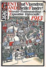 Art Ad 1913 Worlds Fair Expo  Belgium Poster Print