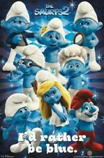 THE SMURFS 2 ~ I'D RATHER BE BLUE 22x34 MOVIE POSTER Papa Brainy Smurfette