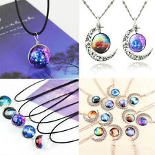 Dreamy Crystal Ball Star Short Glass Galaxy Pattern Pendant Necklace Jewelry Hot
