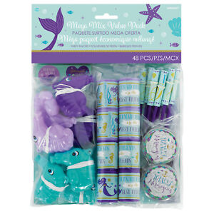 HUGE VALUE PACK 48 x Mermaid Girls Birthday Party Favours Loot Bag Fillers