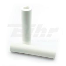 15424 Manopole bici 100% silicone fissaggio standard lungo 135mm colore bianco