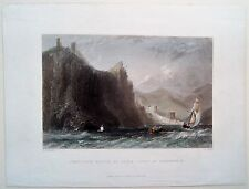 ALANYA TURQUIE, TURKEY, W.H. BARTLETT, GRAVURE c.1840