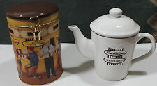 Tim Hortons Coffee Always Fresh Tea Pot & Collectors Coffee Tin Canister