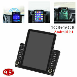 "9.5"" Android 9.1 2 DIN HD 1GB+16GB Bluetooth Car Stereo Radio GPS Navi Universal"