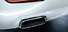 BMW F10 F11 535 Chrome Exhaust Tailpipe Pair 2011+ 5 Series M Performance OEM