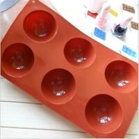Half Ball Sphere Silicone Cake Mold Muffin Chocolate Cookie Baking Mould Pan FM
