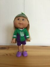 "Cabbage Patch Lil' Sprouts 5"" 12cm doll 2008 Magic Glow blonde sports soccer"