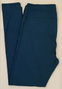 OS LuLaRoe One Size Leggings Beautiful Solid Dark Teal Aegean Blue NWT 67