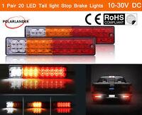 2x 20 LED 12V/24V Luz de la Cola Coche Camión Tráiler Barco Freno Inverso Giro