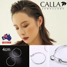 CALLA Fashion Women's 925 Sterling Silver Hoop Dangle Earrings Wedding 40MM AU