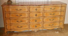 solid wood antique white dresser w/pink marble top