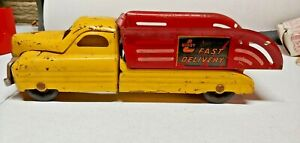 1940's Buddy L Fast Delivery Truck Art Deco Style Very Nice Original Condition