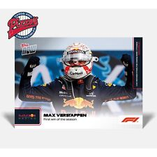 Max Verstappen First win of The Season Formula 1 F1 TOPPS NOW Card #4 Pre-Sale