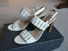 Via Spiga high heeled open toe sling backs in cream Size UK 5.5 EU 38.5
