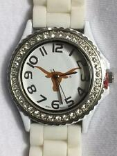 New Texas Longhorns UT Ladies Team Watch Rhinestone Gel Band Official Licensed