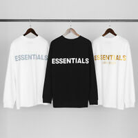 INS Fear of God FOG Essentials T-SHIRT Long Sleeve Reflective LOGO Loose Tops