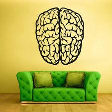 Wall Decal Vinyl Sticker Brain Genius Smart Mind Human Words Quotes (Z1752)