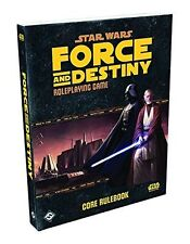 NEW Fantasy Flight Star Wars Force and Destiny Roleplaying Game Core Rulebook