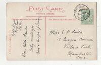 Port Erin 23 Aug 1909 Single Ring Postmark Isle Of Man 111c