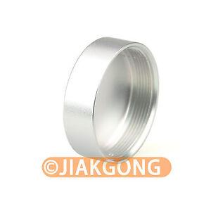 2pcs Silver Metal C mount Screw in Rear Lens Cover Cap CC TV