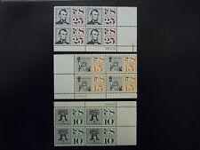 1959-60 C57, C58, C59 Airmail Plate Blocks  MNH  OG