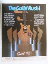 retro magazine advert 1980 THE GUILD RUSH guitar