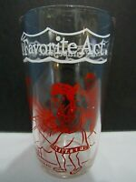 VTG.1953 HOWDY DOODY RED JELLY GLASS FEATURING HOWDY,PRINCESS & A CIRCUS SEAL