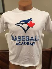 SWEET Toronto Blue Jays baseball Academy Youth Sz XL White Cotton T-Shirt, NEW!